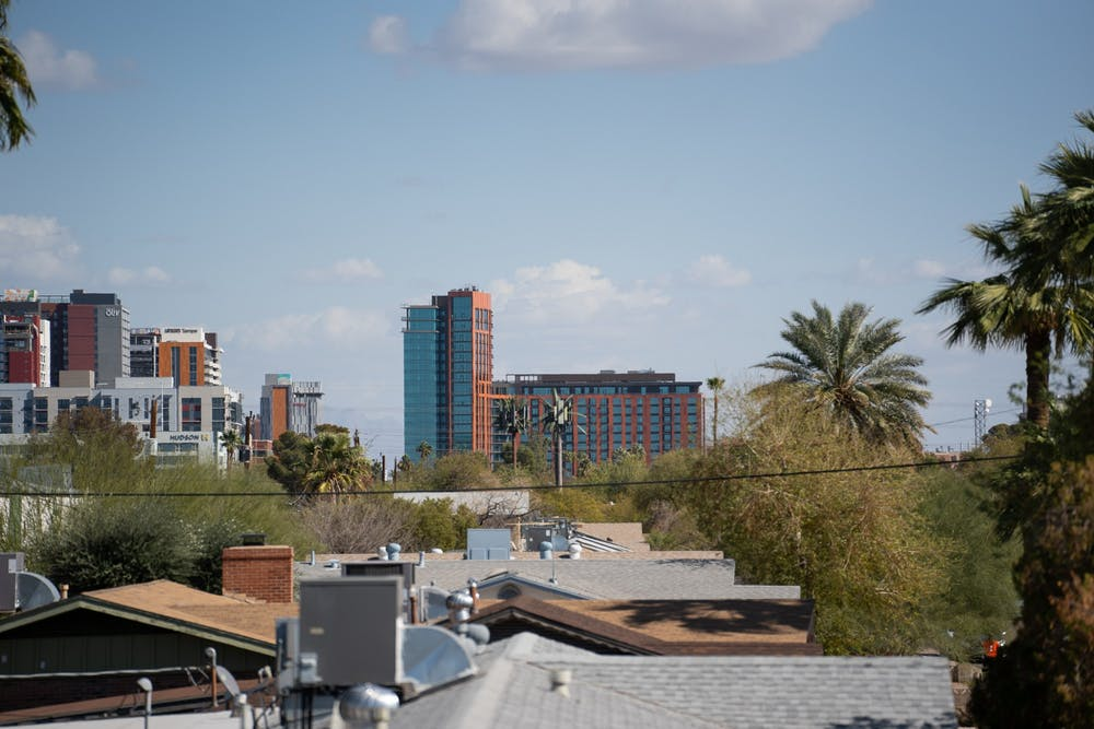 Mirabella at ASU is shown from a distance.