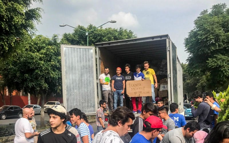 Monterrey students pack donations