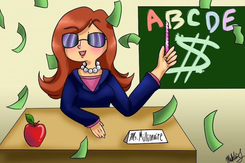 teacher with a million dollars