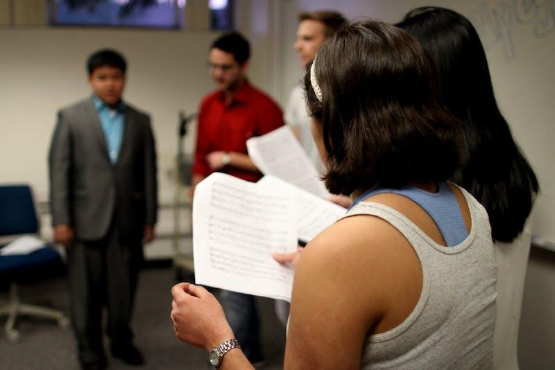 Myrella Arellano Summer practicing with the Jazz Choir at ASU