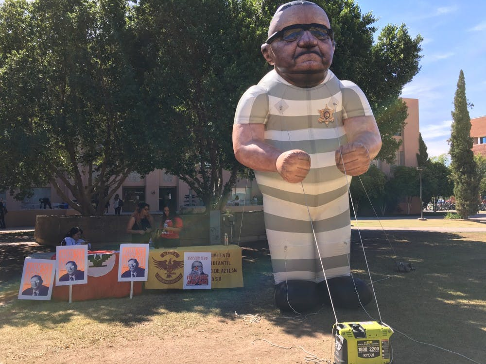 Handcuffed Joe Arpaio Inflatable Used To Pit Voters Against