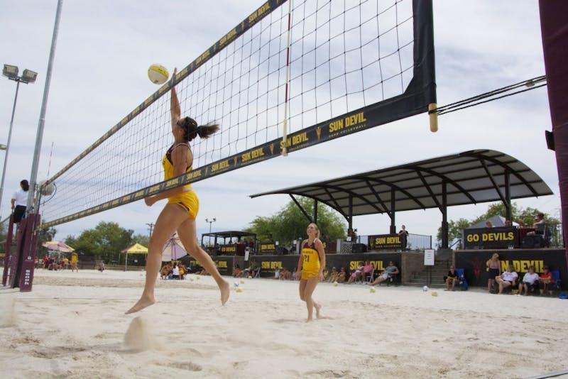 Whitney Follette Halle Harker- sand volleyball