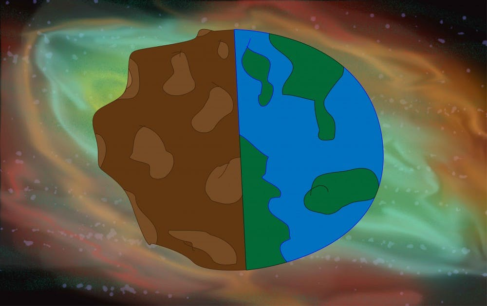 space rock with nebula (2)
