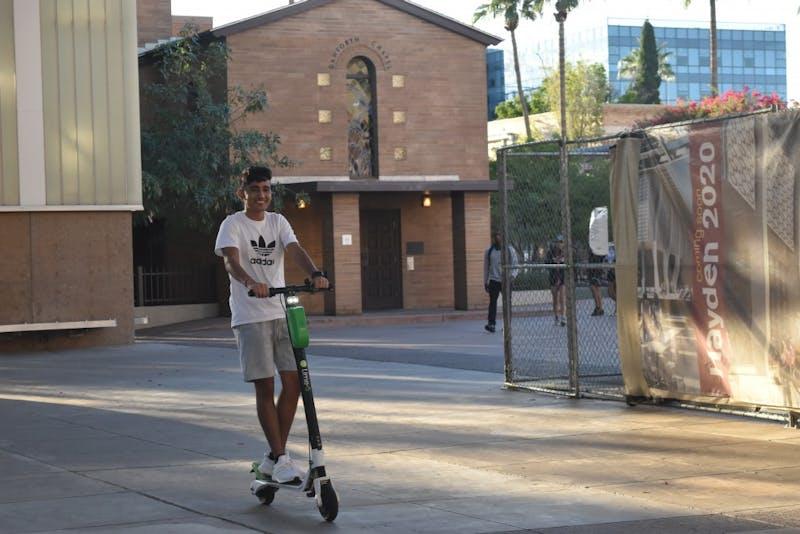 Purneet Pabla rides Lime scooter despite ban