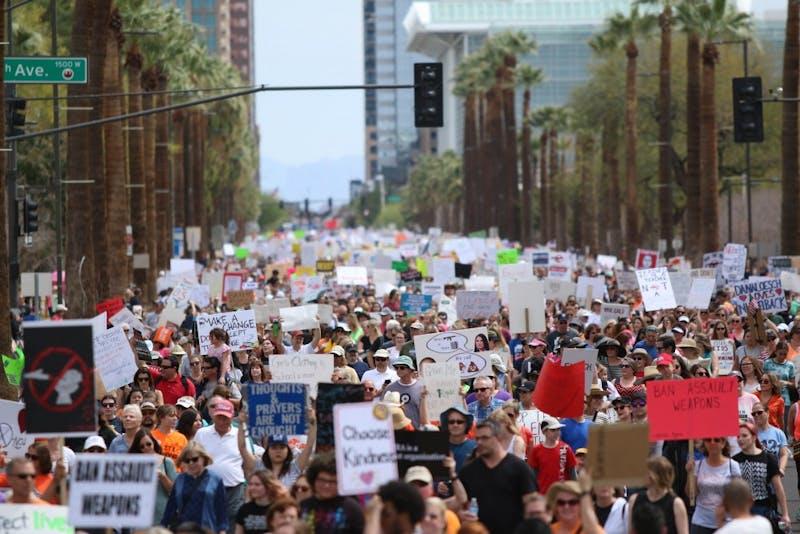 Protestors march