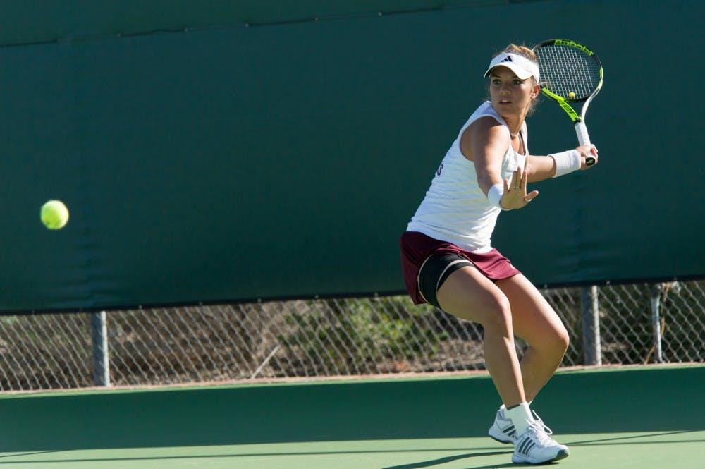 Krawczyk Stuns Nations U0026 39 Top Player But ASU Tennis Fall At