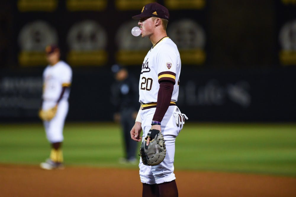 new concept c8f0a 753c7 ASU baseball loses second game of the series to No. 1 UCLA ...