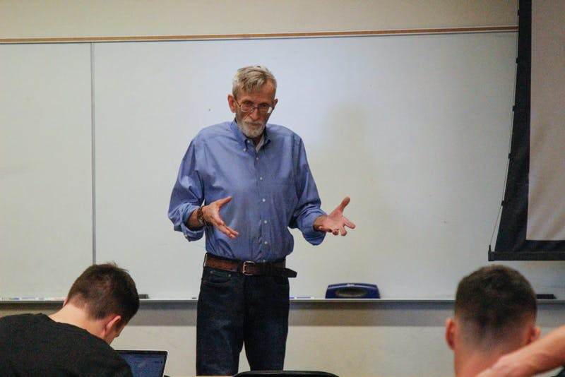ASU professor and director of the Office for Veteran and Military Academic Engagement, Mark Von Hagen, teaches a special topics class in Tempe, Arizona, on Monday, March 12, 2018.