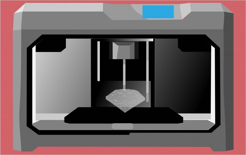 3d printer working