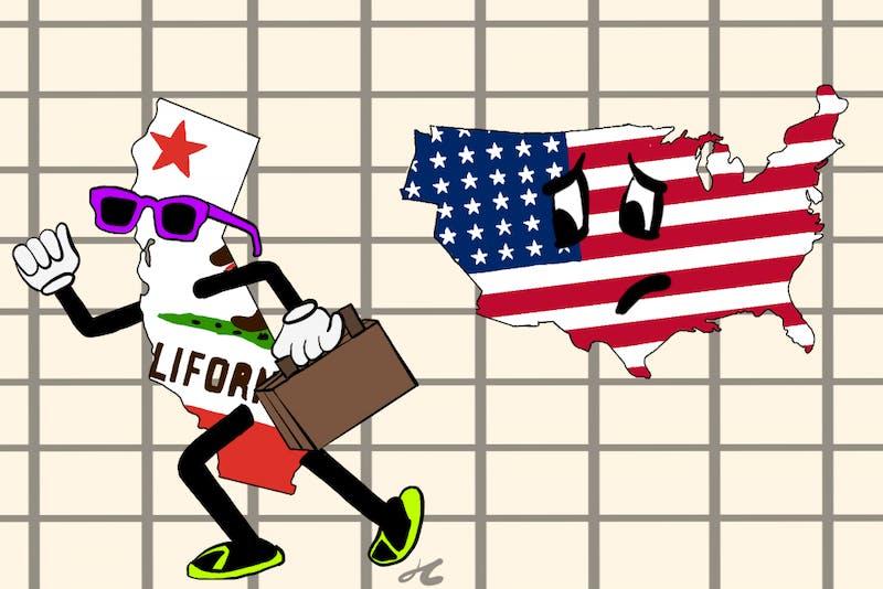 CalExit Cartoon