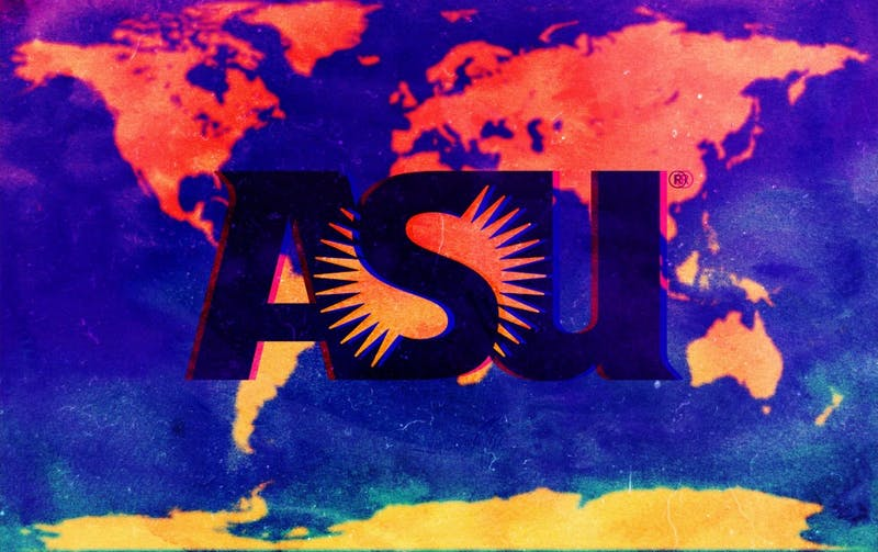 """ASU needs to market itself to international students."" Illustration published on Sunday, April 22, 2018."