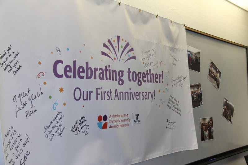 Memory Cafe 1st Anniversary Banner
