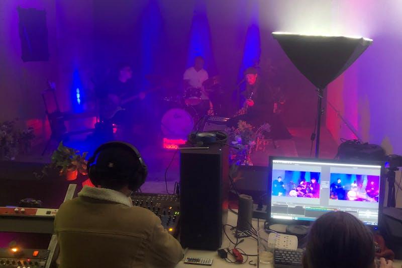 Staff live-stream a performance from Recordbar Radio & Shop in Phoenix.