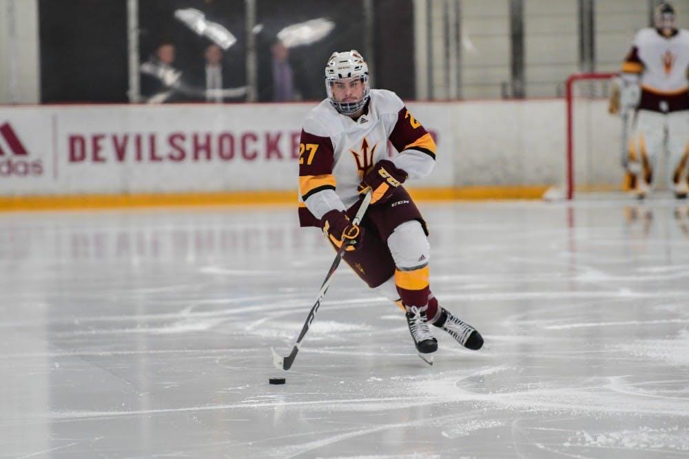 ASU Men's Hockey Picks Up A Series Split Against Harvard