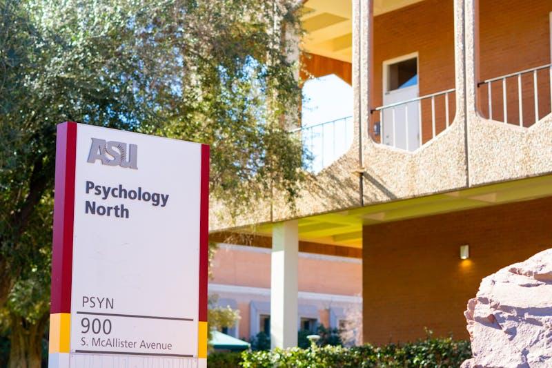 ASU Psychology North building on the ASU Tempe campus in Arizona.