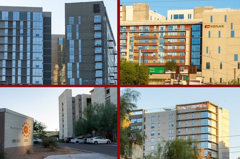 ASU on-campus living locations are pictured on Wednesday, Nov. 18, 2020, in Arizona. Students at ASU have reported being stressed over finding housing next year.