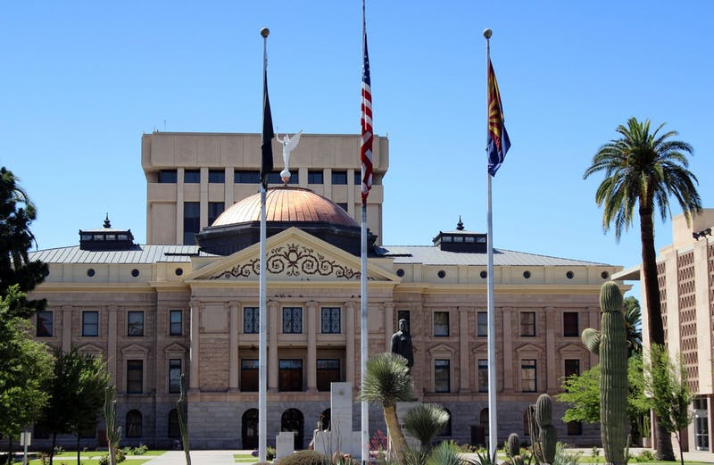 The Arizona State Capitol building is pictured