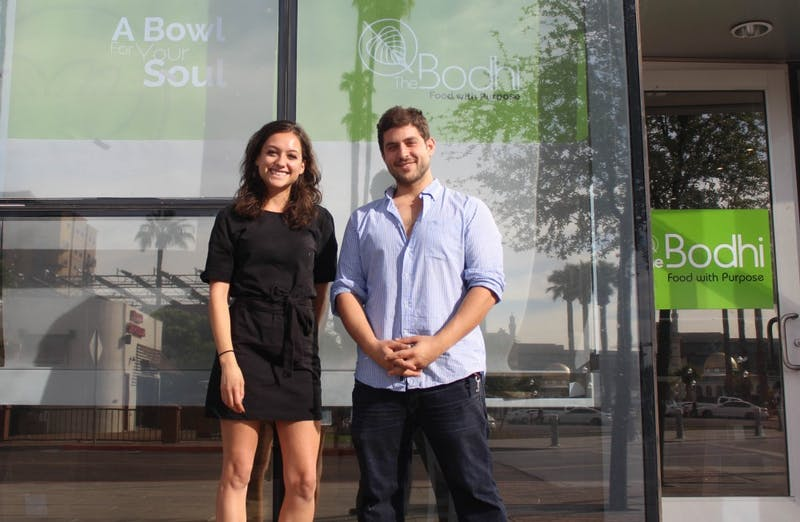 Sasha Bayat and Fares Tarabichi in front of The Bodhi