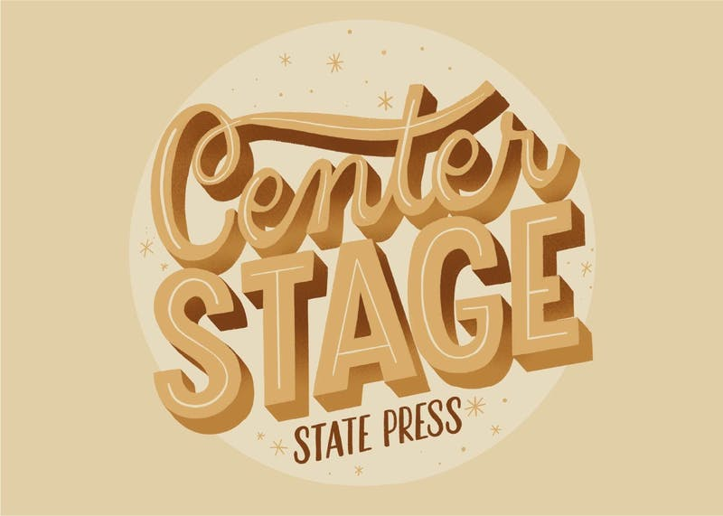 The logo for Center Stage, a State Press podcast.