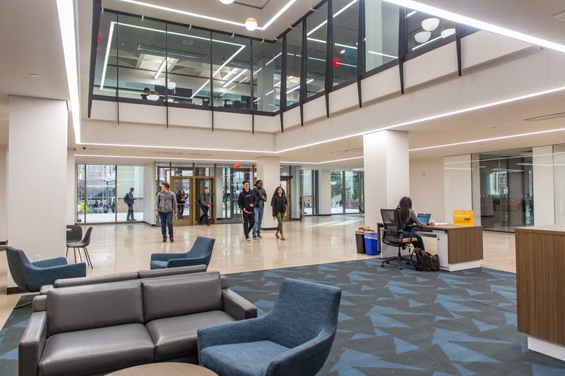 Students spend time inside the newly redesigned Hayden Library on the Tempe campus on Thursday, Jan. 16, 2020.