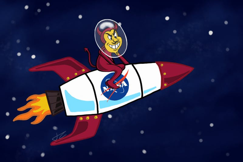 sparky riding rocket