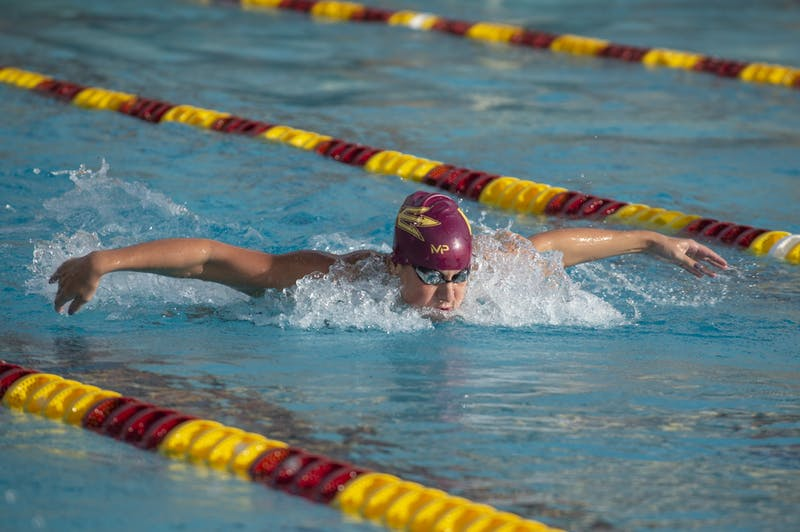 Lizzy Spears competes in the women's 100 butterfly