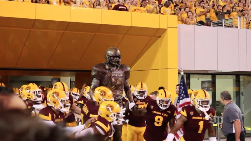 ASU football and Pat Tillman statue