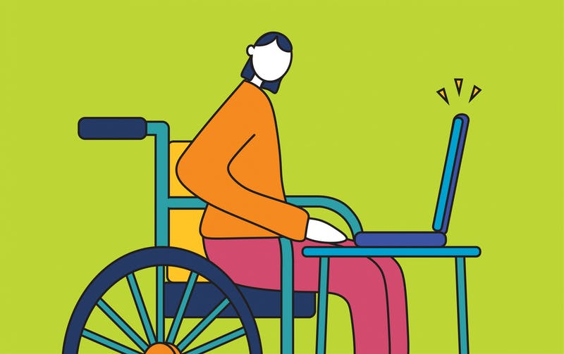 """""""Student Accessibility and Inclusive Learning Services has moved to accommodate students in this new reality of remote learning, remaining largely unfazed by the familiar medium."""" Illustration published on Wednesday, Dec. 2, 2020."""