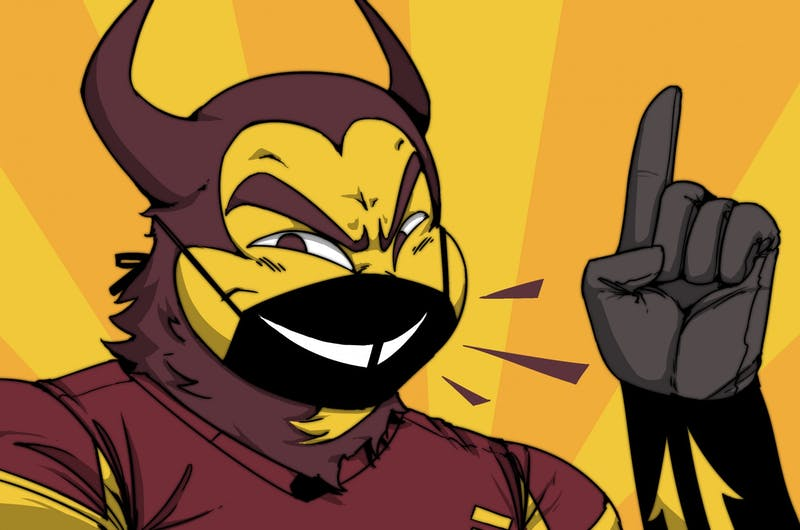 A team of five ASU students are competing to win $1 million for the COVID-19 face mask they created. Illustration originally published Aug. 7, 2020.