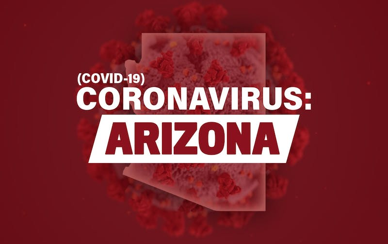 A graphic for Covid-19 in Arizona.