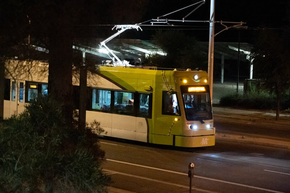 The Tempe Street Car conducts a test on the track