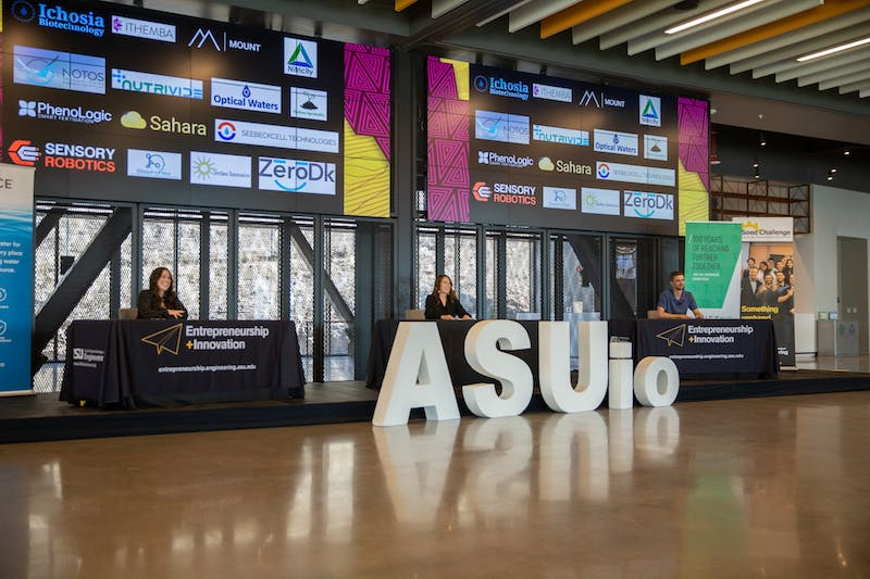 A scene from The ASU Innovation Open finals is shown