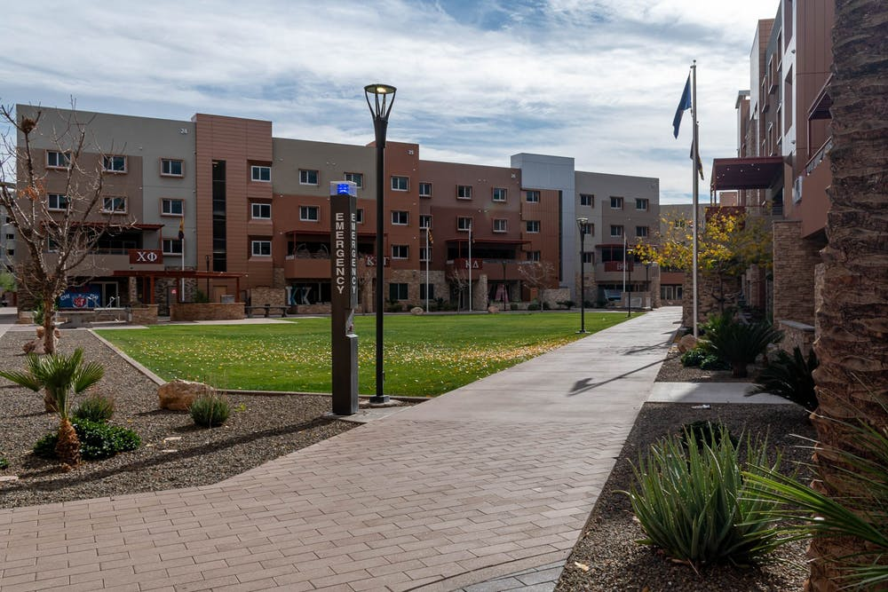 ASU's Greek Life Village is pictured.