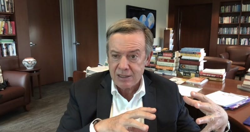 Michael Crow talks to The State Press via zoom