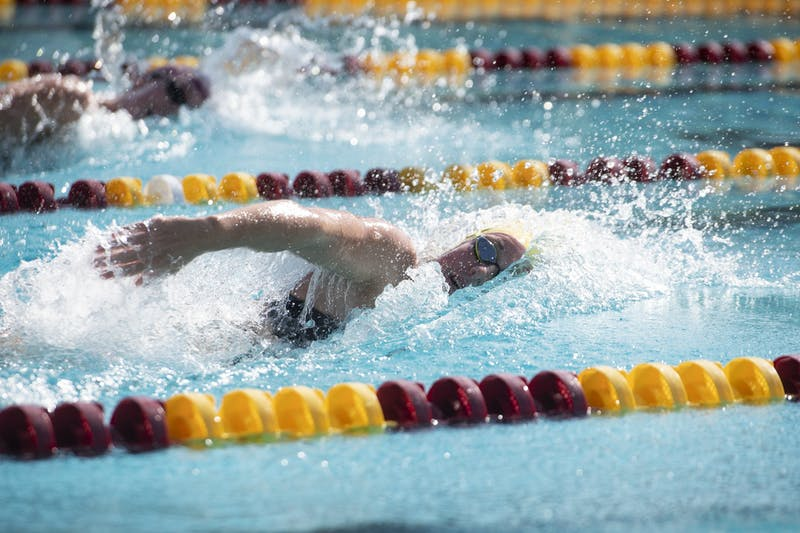 Erica Laning swims the women's 200-meter freestyle