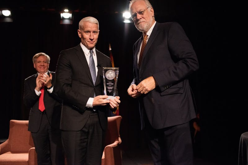 Anderson Cooper receives Cronkite Award for Excellence in Journalism