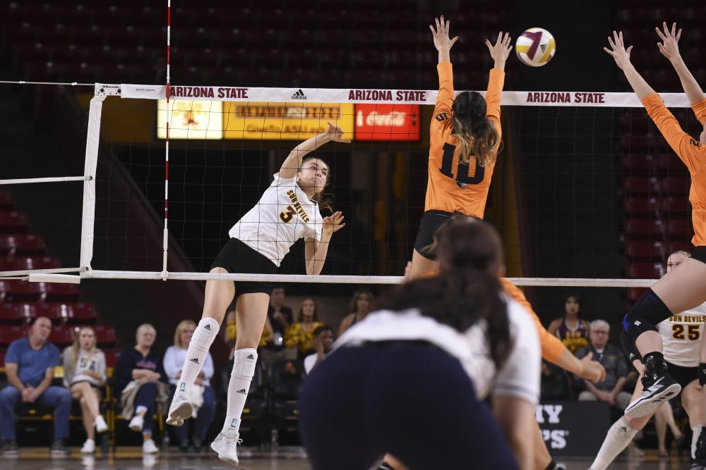 ASU Volleyball vs Oregon State-19