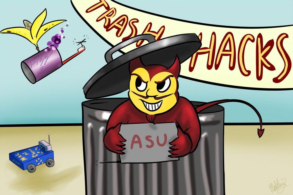 trash hacks sketch
