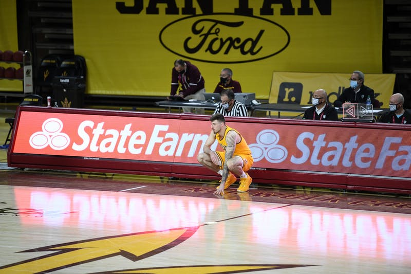 Chris Osten subs into the game against Oregon State