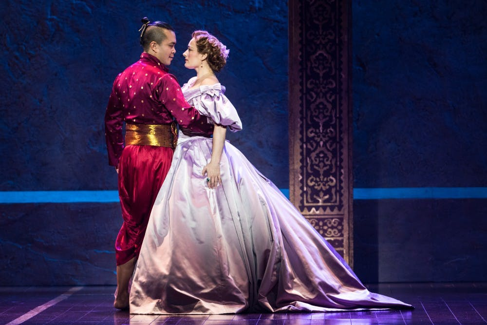 Jose Llana and Laura Michelle Kelly in Rodgers & Hammerstein's The King and I.  Photo by Matthew Mur