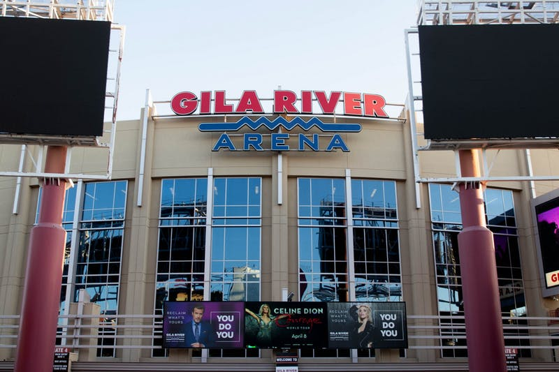 The front of the Gila River arena.