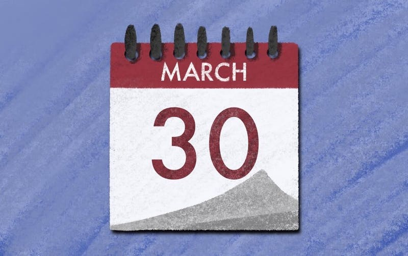 """ASASU election moved to March 30 and will continue until April 15."" Illustration published on Tuesday, March 24, 2020."
