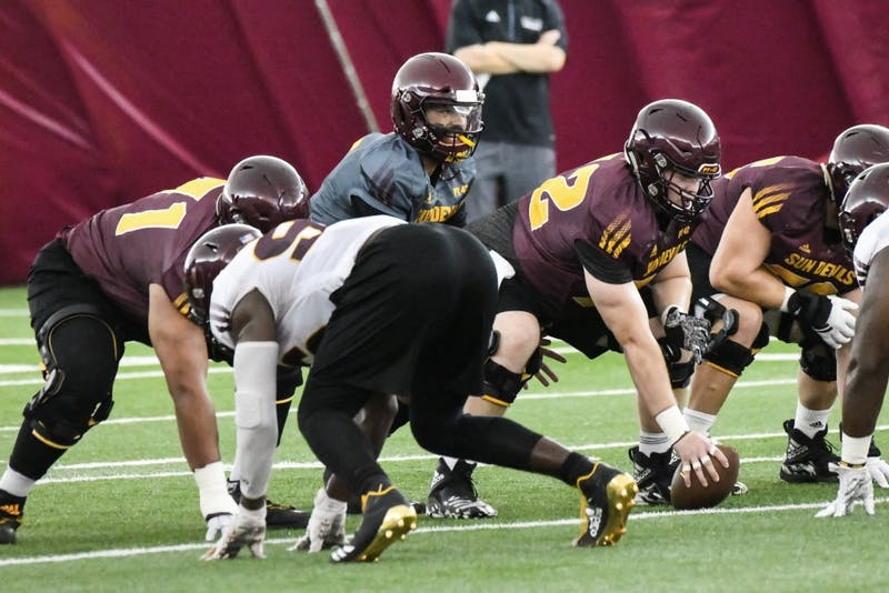 Report from Tuesday's practice: ASU football was forced to move to the Dickey Dome due to inclement weather