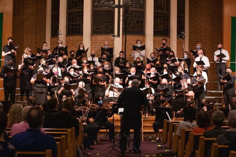 The ASU Choral Union performing at the Fall Choral Festival on Wednesday, Oct. 20, 2021, at the Dayspring United Methodist Church in Tempe.