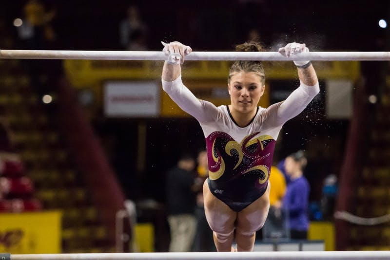 Kaitlyn Szafranski Competes on Bars