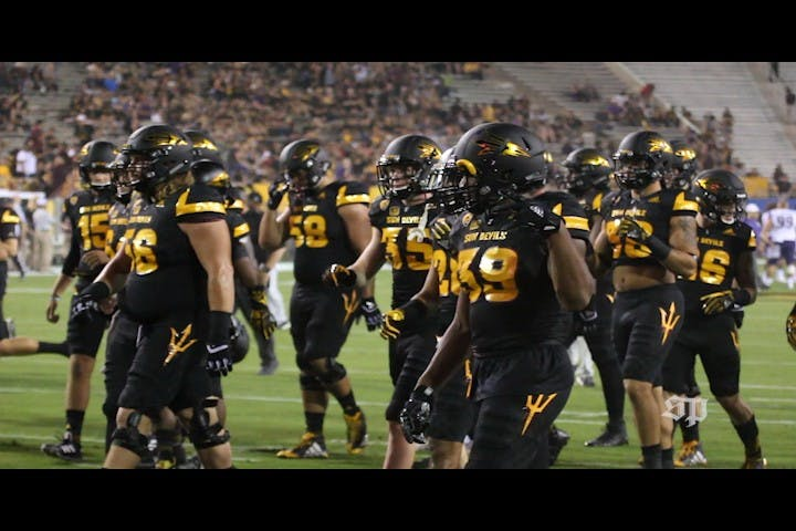ASU football balck out