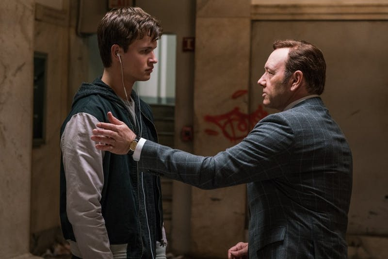 Ansel Elgort;Kevin Spacey