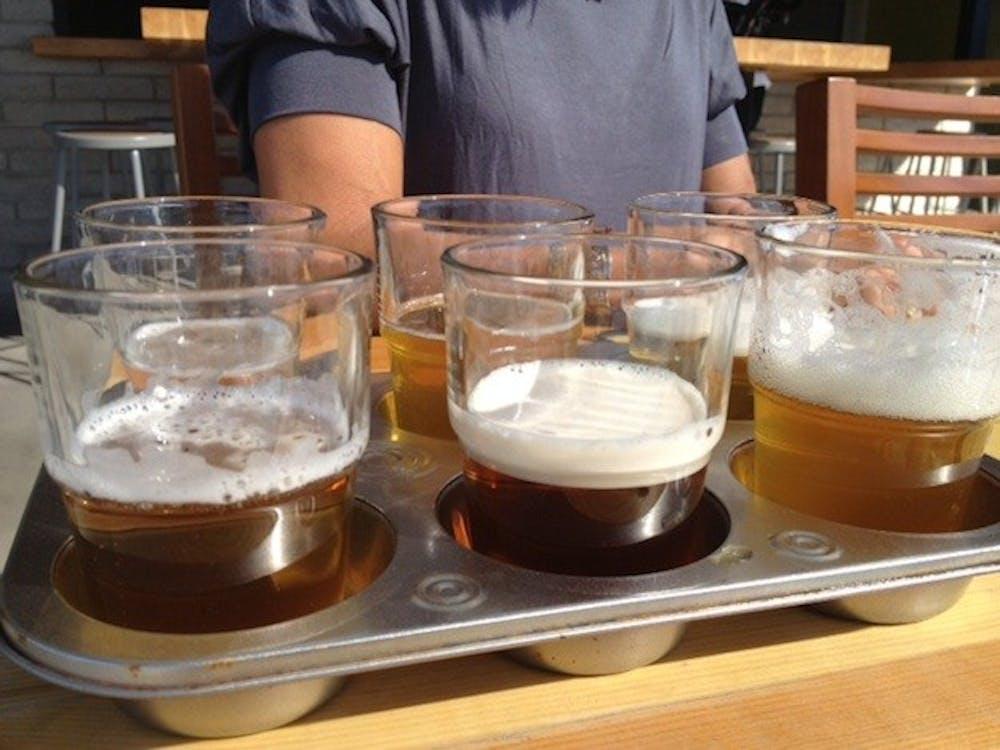 beer-sampler-at-angels-trumpet