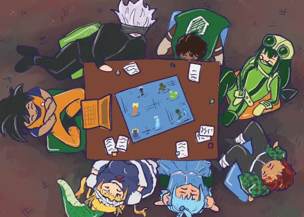 Des enfants assis autour d'une table jouent à un jeu de société.