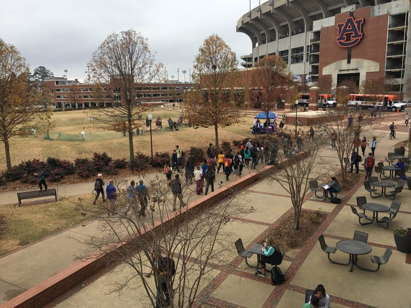 Auburn Graduate Students stage protest at Cater Lawn in response to proposed Tax Reform legislation